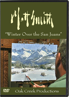 "Matt Smith Painting, ""Winter Over the San Juans"""